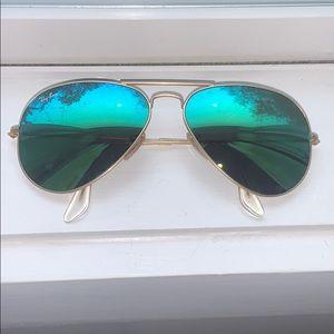 Ray Ban Aviator Green Lens Sunglasses